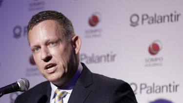 PayPal founder Peter Thiel is one of the people behind Palantir.