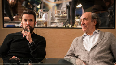 Rob McElhenney and F. Murray Abraham in the workplace comedy Mythic Quest: Raven's Banquet.