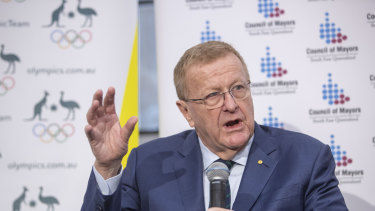 Australian Olympic Committee president John Coates says Queensland needs a new stadium, but it does not need to be 80,000 seats.