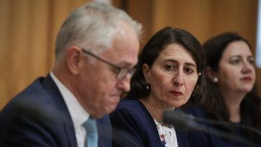 Malcolm Turnbull and Gladys Berejiklian at COAG.