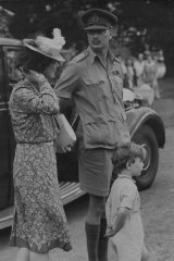 The Duke and Duchess of Gloucester, and Prince William, rest at Marulan on the way to Canberra, January 30, 1945.