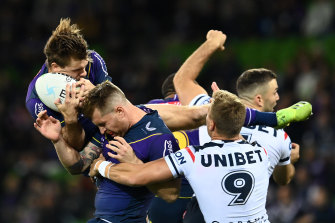 The NRL will be reviewing the Storm's decision to keep Cameron Munster and Harry Grant on the field after head knocks without undergoing a HIA.