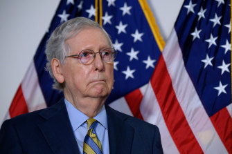 """Senate Majority Leader Mitch McConnell said """"there will be an orderly transition"""" of power."""