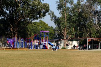 The playground at Lane Cove West Primary School, which will close after confirmed COVID-19 case.