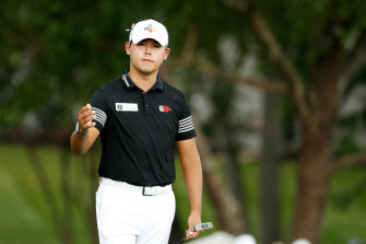 Si Woo Kim has the lead after three rounds.
