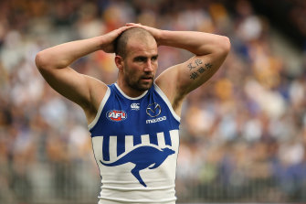 Ben Cunnington has been on light duties at training this week after being concussed in an intra-club hit-out.