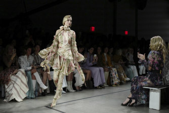 A Zimmermann design at New York Fashion Week.
