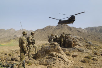 Australian Army soldiers from Special Operations Task Group in 2012.