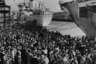 HMAS Sydney Departure. May 25, 1966