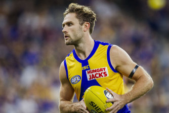 West Coast's Mark Hutchings was superb in shutting down Steele Sidebottom in last year's grand final.
