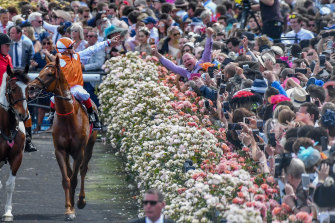 Crowds at last year's Melbourne Cup carnival.