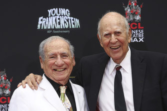 Carl Reiner (right), pictured with Mel Brooks in 2014.