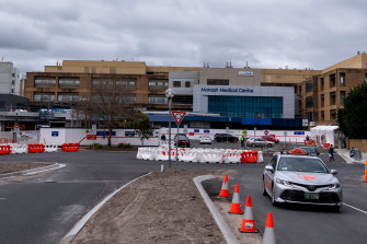 Monash Medical Centre will take more COVID patients under the change in role.