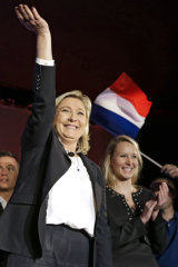 Marine Le Pen, left, with  Marion Marechal in 2015.