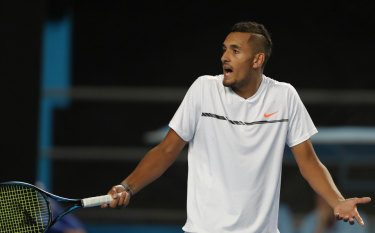 'Black eye for the sport': Kyrgios crashes to a controversial loss to Andreas Seppi at the 2016 Australian Open.