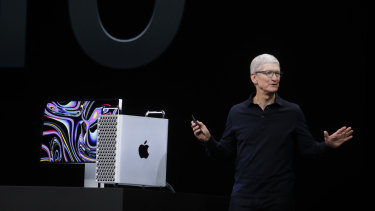 Apple chief Tim Cook has reported better than expected financial results.