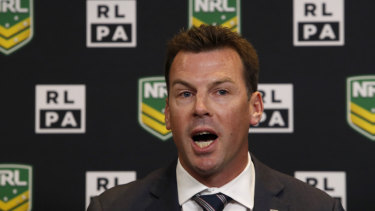 Opposed: RLPA boss Ian Prendergast expressed his disappointment in the NRL's decision to stand Jack de Belin down.