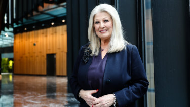 The new chair of the Minerals Council of Australia, Helen Coonan, pictured in Sydney on Friday.