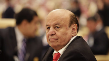 Exiled: Yemeni President Abed Rabbo Mansour Hadi in Saudi Arabia.