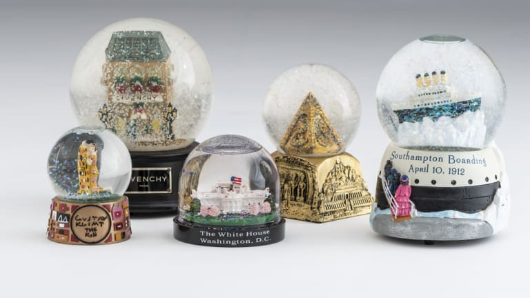 Just a small selection from Sally Hopman's wonderful snow dome collection. She owns more than 700.