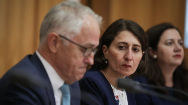 Malcolm Turnbull and Gladys Berejiklian at COAG.