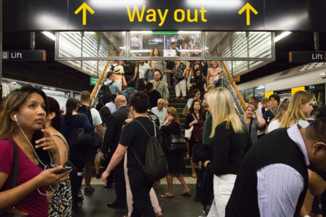 With 5 million residents each, Melbourne and Sydney need to move more people by train.