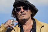 "Johnny Deep promotes his film ""Crock of Gold"" at the San Sebastian Film Festival"