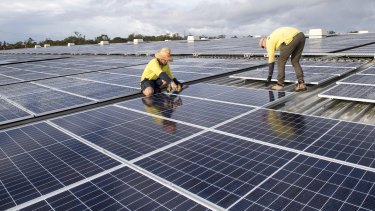 Emissions reduction action like solar panel installation could help recover from the economic downturn of the coronavirus.