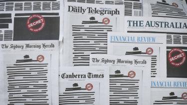 Redacted newspapers