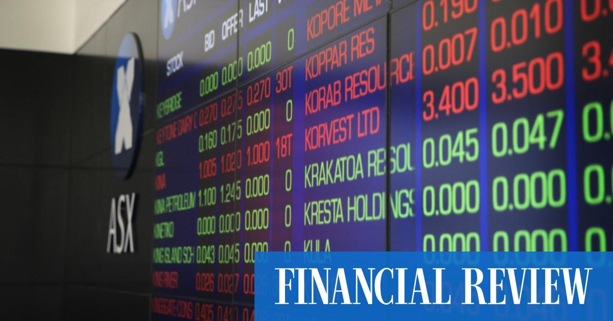 ASX jumps 0.5pc as tech stocks rally – Markets – The Australian Financial Review