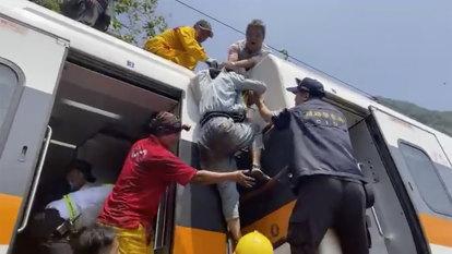 Train crash inside tunnel in eastern Taiwan kills dozens