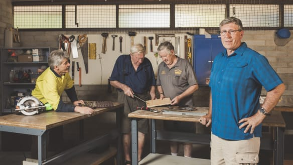 From tin to brick: Southside Men's Sheds enjoy an upgrade
