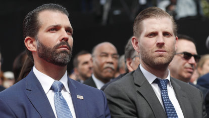 Sons of Trump set to take a firmer grip on the family business