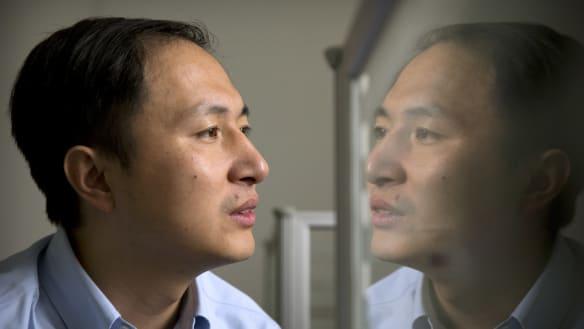 He Jiankui at a laboratory in Shenzhen, China.