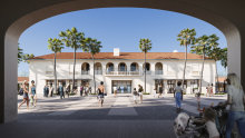 The development application includes plans to open up the pavilion's internal courtyard.