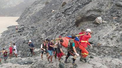 Scores dead in landslide at Myanmar jade mine