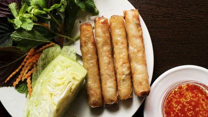 Pass another plant-based-protein-that-tastes-like-chicken spring roll
