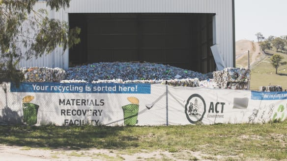 WorkSafe ACT shuts down Hume recycling centre over fire hazards