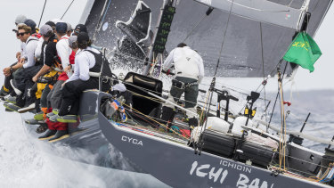 In the hunt: Ichi Ban, one of the contender's for overall honours, races in last year's Sydney Hobart.