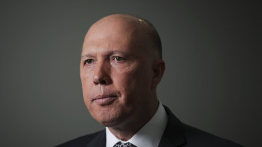 """Home Affairs Minister Peter Dutton's office says  the government wants to deal with Australian Islamic State fighters """"as far from our shores as possible""""."""