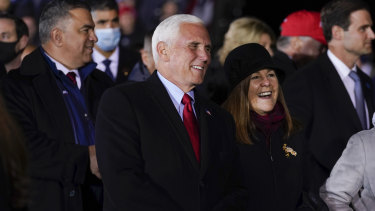 Vice President Mike Pence and his wife Karen.
