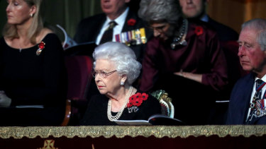 The Queen and Prince Charles attend the annual Royal British Legion Festival of Remembrance at the Royal Albert Hall in early November.