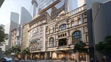 Plans have been lodged for a new mixed-use tower atCity Tattersalls Club at 194-204 Pitt Street, Sydney.