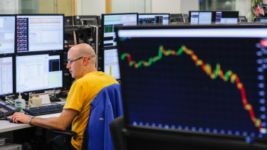Australian shares fell for a second session following big losses on Wall Street overnight.
