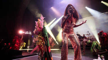 Sampa The Great performs at Red Bull Music Festival at The Forum Theatre in Melbourne, Australia on October 18, 2019.