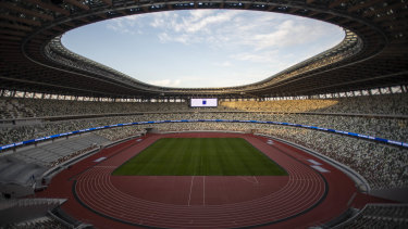 Tokyo's new National Stadium was scheduled to host the opening ceremony of the 2020 Olympic Games before the event was postponed.