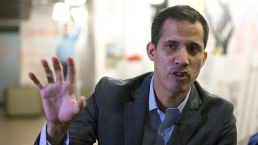 Briefly detained: Juan Guaido.