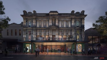 An artist impression of the refurbished Victoria Theatre in Newcastle.