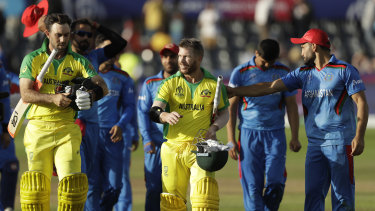 Australia last played the Afghanistan men's team at the 2019 World Cup
