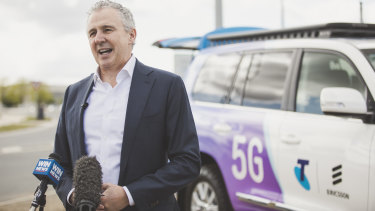 Telstra's Andy Penn is spending big on 5G spectrum.